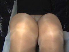 crossdresser pantyhose legs black mini 060