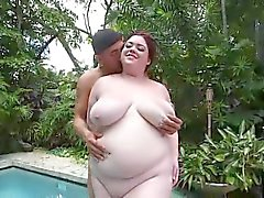 horny bbw in bikini at pool