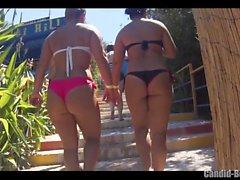 Big Butt Thongs Biquíni Sexy Latinas Beach Voyeur Close-up