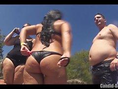 Big Butt Thongs Bikini Sexy Latinas Beach Voyeur Close up