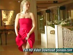 Alison Angel A Sexy Red Dress Acts Like A Fashion Model