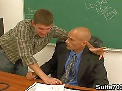 Gay teacher Troy fucking student William in the class only on Suite703