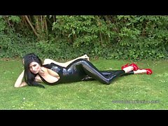 Lilly Roma - Black Latex Halterneck Catsuit
