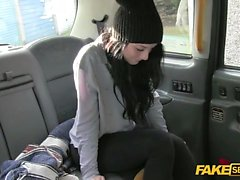 Hardcore banging inside a public used cab