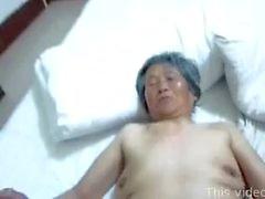 Chinese granny threesome