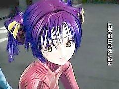 Slutty 3D Anime Hacke wird gefickt
