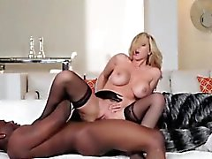 Blonde cougar fucking black student