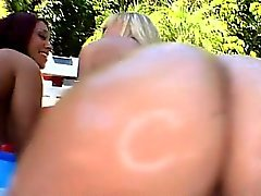 Beauteous cutie gangbanged in analhole