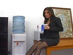 Sativa Rose office kön i strumpbyxor