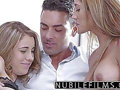 NubileFilms - Amatör Teen och för högskola brudar het trekant