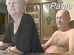 Coppia anziani Fronte in webcam