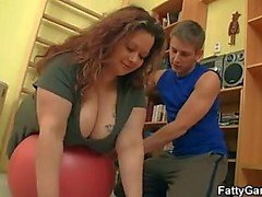 Zorra Chubby folla su fitness instructor