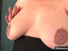 Hot pregnant fetish with cumshot