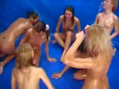 7 girls in baby oil