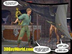 PRESA e pianta di fagioli 3DGay Fumetto Comic Gay Luogo Favola