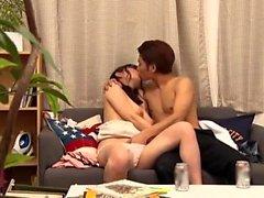 Asyalı japon amatör sürme horoz anal