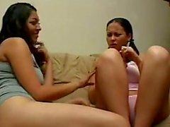 lesbiana Mexicana primeriza convence