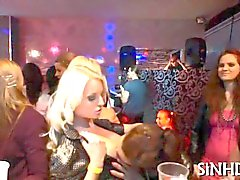 Wild party chicks suckles each others tits