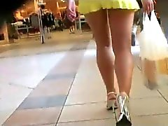 Upskirt Pequenas calcinha branca 2