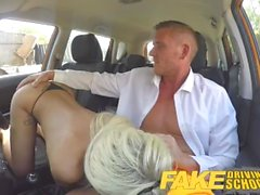Fake Driving School Barbie earns her pass with a huge facial