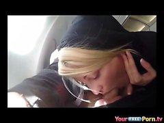 Blowjob em um avião