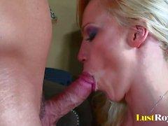 Pretty Nicki Hunter is very good at deep throating