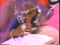 Ebony menee interracial kanssa iso kova valkoinen kukko