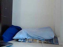 Webcam morena garota asiática esguichando buceta