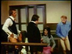 Vintage tyska - rättssalen orgie