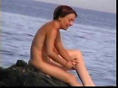 Playa nudista nudismo público aficionado