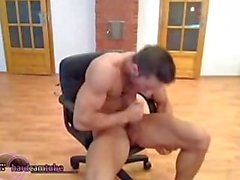 Big Muscles and Big Cock