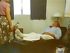 Teen gets horny watching Aunt seduce Dad