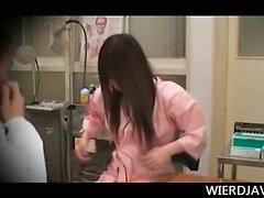 Dulzura Japón el conseguir su sexy boobs verificará en las documentación