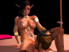 Sexy elfo negro