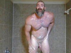 Muscle Papa Rick Flex Jerk Off & Cum