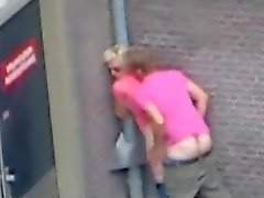 People having sex on the street (The Netherlands).