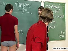 Twinks detention turns into butt spanking madness
