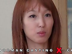 Cute Asians cock hardening casting