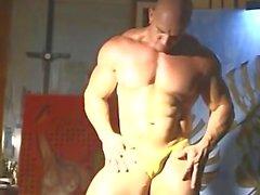 Muskel posing