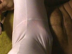 Masturbating wearing gfs yoga pants and thong and playing with her toy.