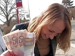Pretty Czech babe gets pounded in public