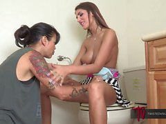 August Ames and Dana Vespoli Fuck in Public