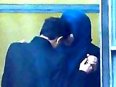 Hijabi Muslim girl sex with Kafir man in the open