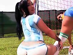 Huge assed latinas painted on shorts