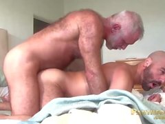 Sexy Trick Daddies Allen Silver and Adam Russo Fuck Each Other In Bed