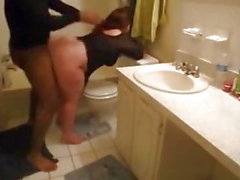 Huge white mom bbw ass get fucked in bathroom