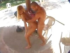 Fervent mate takes blonde tranny on the beach