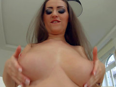 Kendra Star big tit hottie gets her boobs fucked hard by