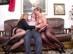 German Big Tit MILF Seduce coppia reale a Fuck
