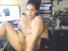 Kiimainen Brunette Chick hieroo Makea Cunt